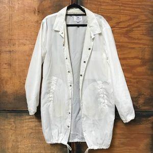 Jackets & Coats - DOPE White Windbreaker Coat
